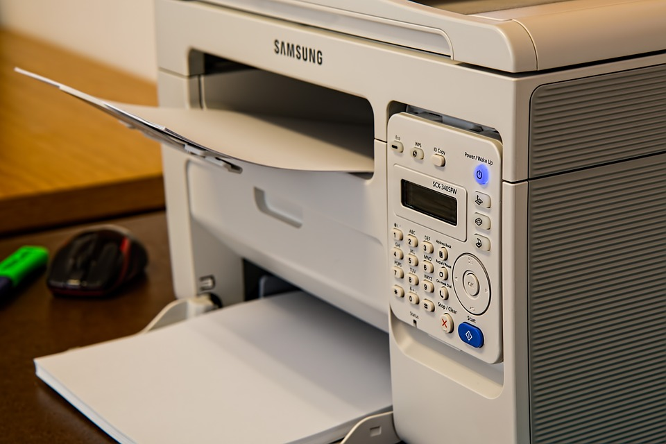 An office printer available readily