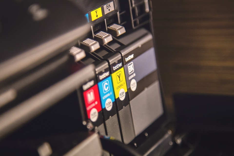 Colour printers in office