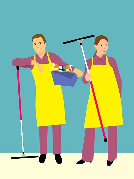 man-woman-cleaning
